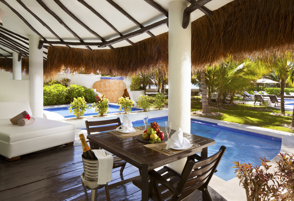El Dorado Casitas Royale – HONEYMOON PRIVATE POOL SWIM UP CASITA SUITE-terrace